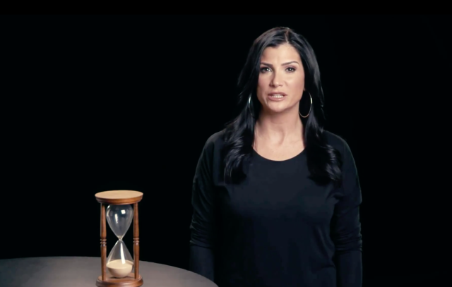 "NRA spokesperson Dana Loesch's new video proclaiming ""Time's Running Out"" seems quite similar to the #TimesUp movement. (Photo: Twitter/NRA)"