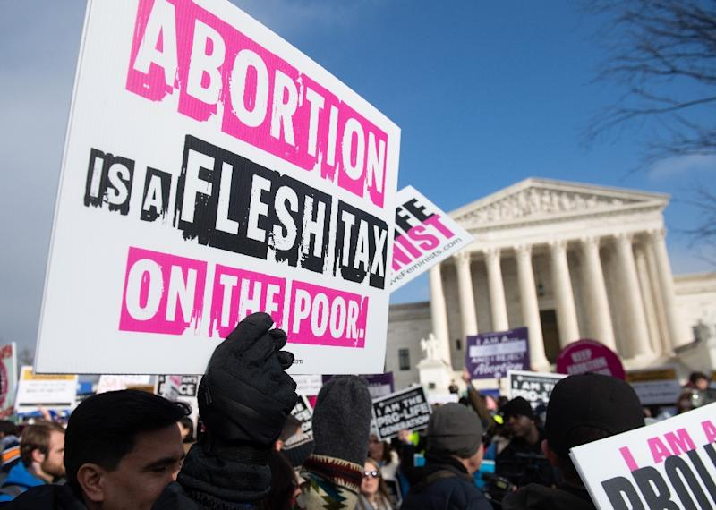 American evangelicals have high hopes that the US Supreme Court, with its newfound conservative majority, will be tempted to chip away at its historic decision to legalize abortion (AFP Photo/SAUL LOEB)