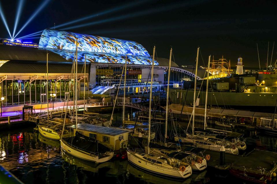 The National Maritime Museum comes to life with a 10-minute show from BBC earth. Source: NMM