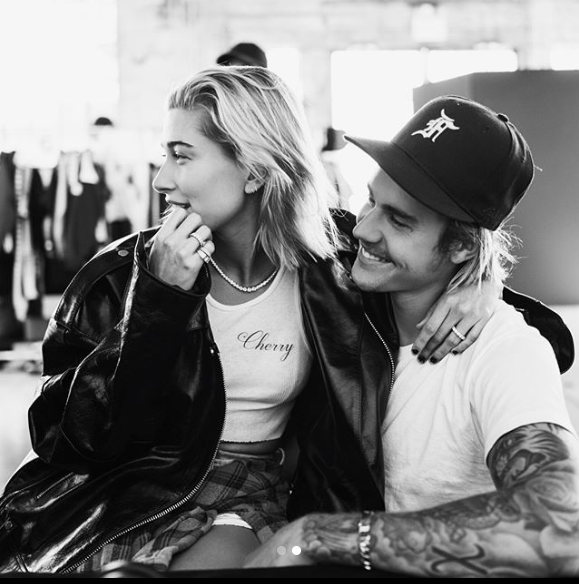 Hailey Baldwin and Justin Bieber confirmed Tuesday that they're engaged. (Photo: JustinBieber via Instagram)