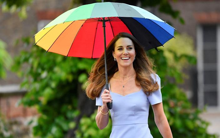 The Duchess of Cambridge arrives at Kensington Palace in London for the launch of the Centre for Early Childhood - Toby Melville/PA