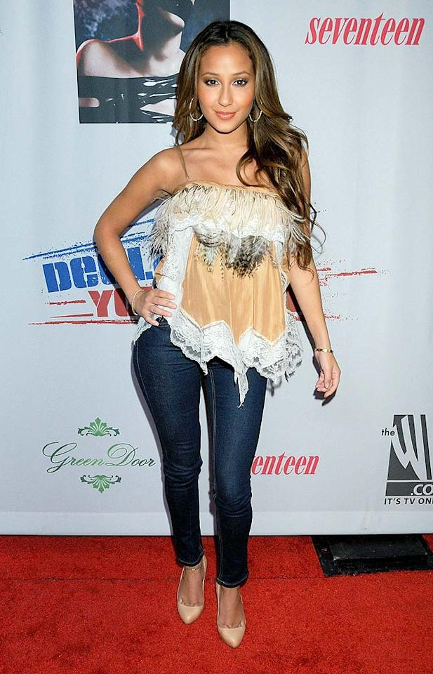 "Apparently Adrienne Bailon (""The Cheetah Girls"") got dressed in the dark. Gregg DeGuire/<a href=""http://www.wireimage.com"" target=""new"">WireImage.com</a> - September 24, 2008"