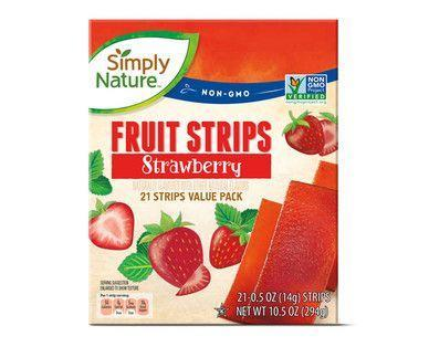 "<p>Another entry for the ""Effortlessly Perfect Lunchbox Snack"" files. Aldi's Simply Nature Fruit Strips in Strawberry are a hit with the kiddos, which makes them a hit with the parents doing the shopping. Fresh-tasting with natural flavors and a perfect chewy texture, grown-ups love these as a snack, too. </p>"