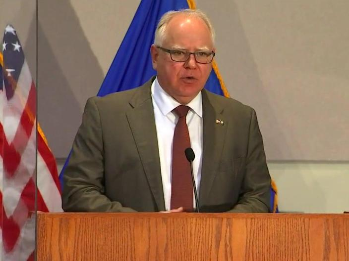 <p>Minnesota governor Tim Walz announces state of emergency for seven counties </p> (FOX 9)
