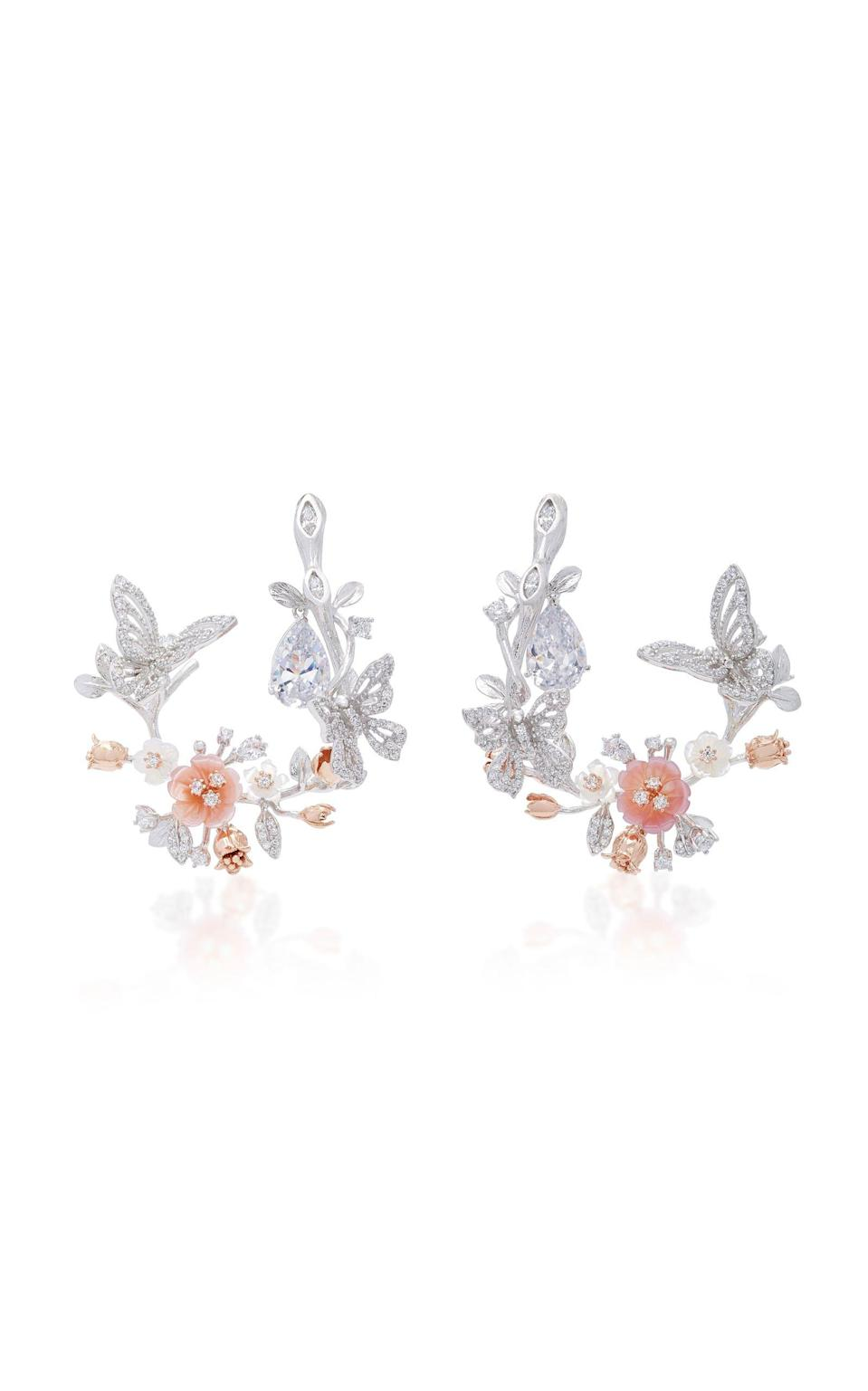 """<p><strong>Anabela Chan</strong></p><p>modaoperandi.com</p><p><strong>$2155.00</strong></p><p><a href=""""https://go.redirectingat.com?id=74968X1596630&url=https%3A%2F%2Fwww.modaoperandi.com%2Fanabela-chan-gg17%2Fm-o-exclusive-18k-white-gold-butterfly-garland-earrings&sref=https%3A%2F%2Fwww.harpersbazaar.com%2Fwedding%2Fplanning%2Fg33647953%2Ffourth-anniversary-gift-ideas%2F"""" rel=""""nofollow noopener"""" target=""""_blank"""" data-ylk=""""slk:SHOP NOW"""" class=""""link rapid-noclick-resp"""">SHOP NOW</a></p><p>Nothing says happy anniversary like jewelry, and these are not only stunning—but also in theme.</p>"""