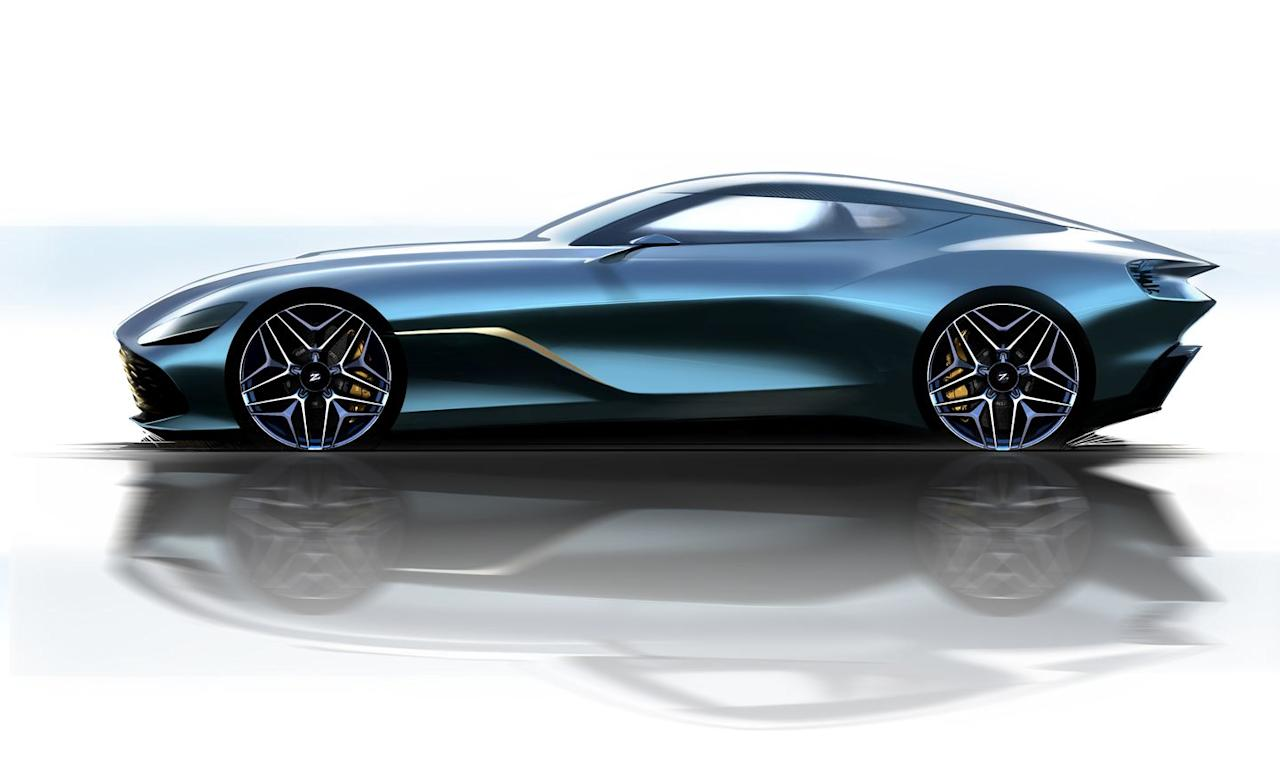 """<p>The design of the round vortex rear lights also seems to have been inspired by those of the last Zagato collaboration, the various Z versions of the <a rel=""""nofollow"""" href=""""https://www.caranddriver.com/news/a23285641/aston-martin-zagato-specials/"""">Vanquish</a>.</p>"""