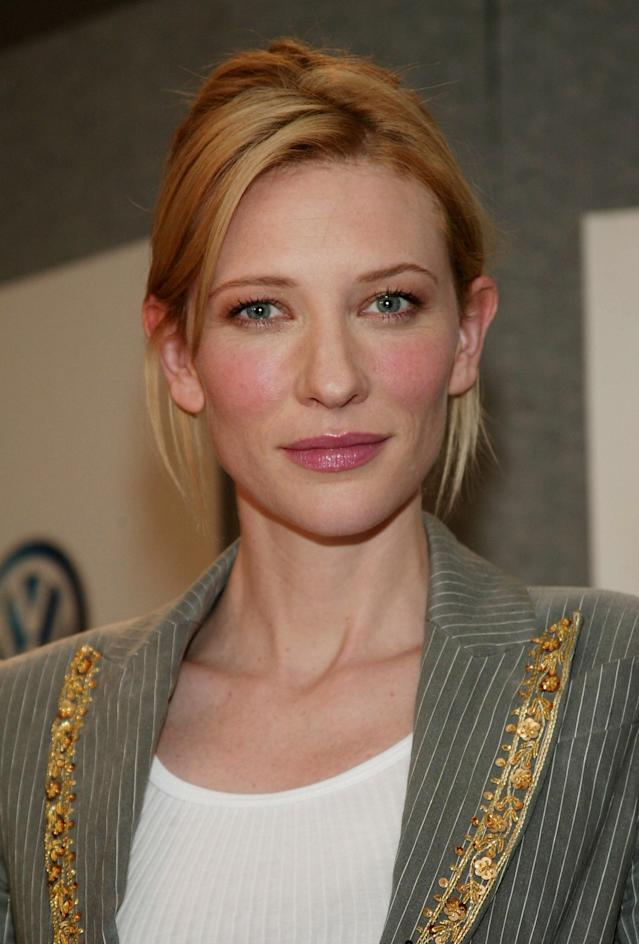 <p>Cate Blanchett participates in the <em>Veronica Guerin</em> press conference during the 2003 Toronto International Film Festival at the Delta Chelsea Hotel on Sept. 8, 2003, in Canada. (Photo: Evan Agostini/Getty Images) </p>