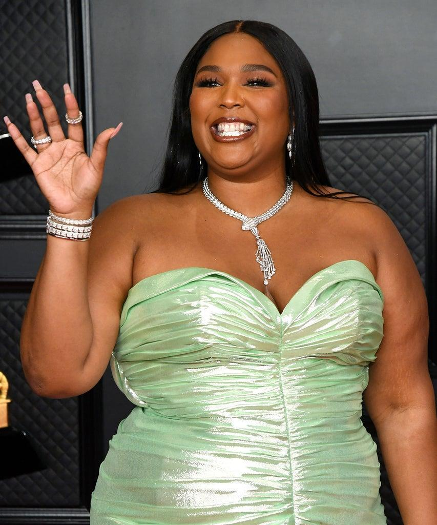 LOS ANGELES, CALIFORNIA – MARCH 14: Lizzo attends the 63rd Annual GRAMMY Awards at Los Angeles Convention Center on March 14, 2021 in Los Angeles, California. (Photo by Kevin Mazur/Getty Images for The Recording Academy )