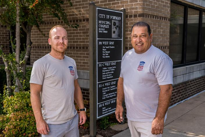 Image: Unite Norman co-founders Russell Smith and Sassan Moghadam. (Christopher Creese / for NBC News)