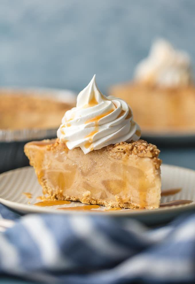 """<p>The only thing better than caramel apples are caramel apples in pie form. </p><p><strong>Get the recipe at <a href=""""https://www.thecookierookie.com/caramel-apple-freezer-pie/"""" rel=""""nofollow noopener"""" target=""""_blank"""" data-ylk=""""slk:The Cookie Rookie"""" class=""""link rapid-noclick-resp"""">The Cookie Rookie</a>.</strong></p>"""