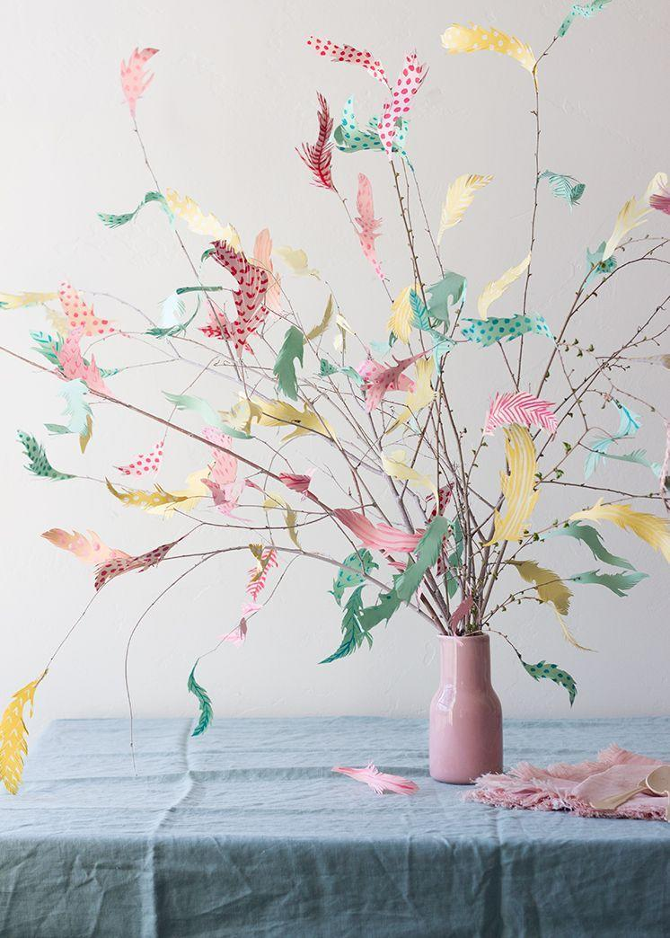 """<p>You likely already have everything you need to make this whimsical tree. (The feathers are made of paper!) Don't have much time to spend crafting? Use real feathers instead! </p><p><strong>Get the tutorial at <a href=""""https://thehousethatlarsbuilt.com/2016/03/diy-paper-swedish-easter-tree.html/"""" rel=""""nofollow noopener"""" target=""""_blank"""" data-ylk=""""slk:The House That Lars Built"""" class=""""link rapid-noclick-resp"""">The House That Lars Built</a>.</strong></p><p><a class=""""link rapid-noclick-resp"""" href=""""https://www.amazon.com/Pattern-Paper-Pack-Single-Sided-Collection/dp/B07BMKMBQ5/ref=sr_1_1_sspa?tag=syn-yahoo-20&ascsubtag=%5Bartid%7C10050.g.26498744%5Bsrc%7Cyahoo-us"""" rel=""""nofollow noopener"""" target=""""_blank"""" data-ylk=""""slk:SHOP SCRAPBOOK PAPER"""">SHOP SCRAPBOOK PAPER </a></p>"""