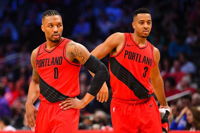 Damian Lillard and C.J. McCollum form one of the NBA's best backcourts. (Getty)