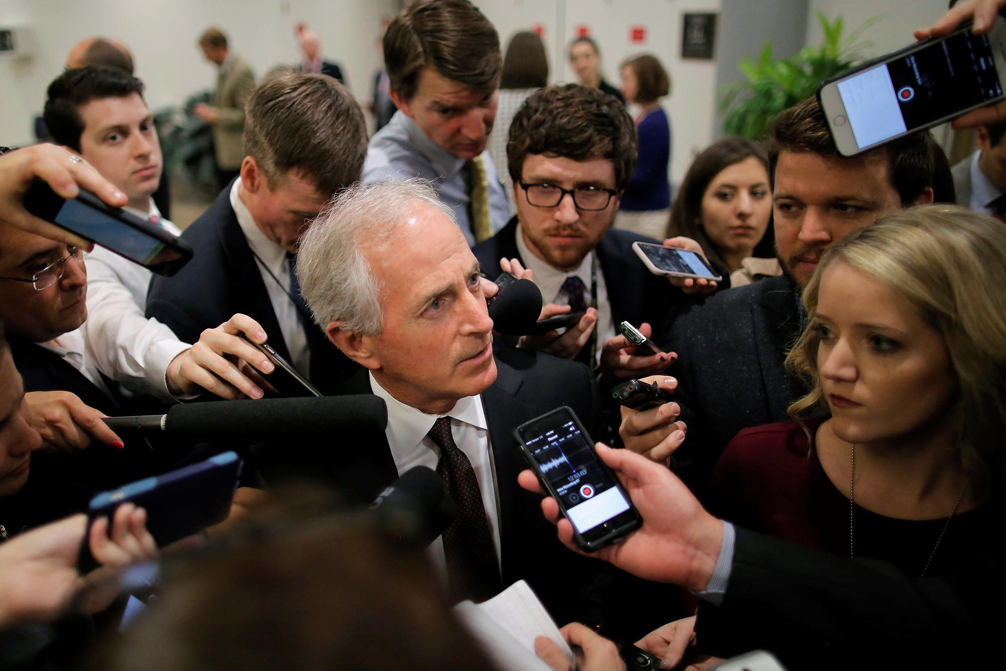 Sen. Bob Corker met with Donald Trump on Monday, and could become his running mate. (Photo: Carlos Barria/Reuters)