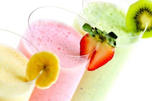 Dish up any breakfast meal with a delicious fruit smoothie. (Just blend a mix of fruit with some OJ or milk.) Serve it in a fun glass with a straw. (Thinkstock))
