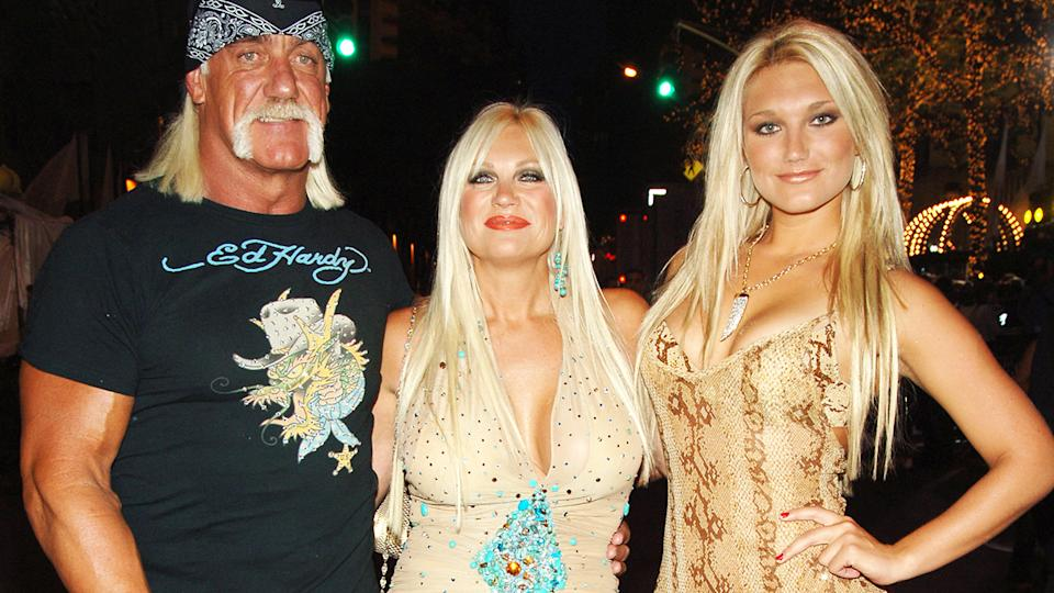 Hulk, Linda and Brooke Hogan, pictured here at the 2006 MTV Video Music Awards.