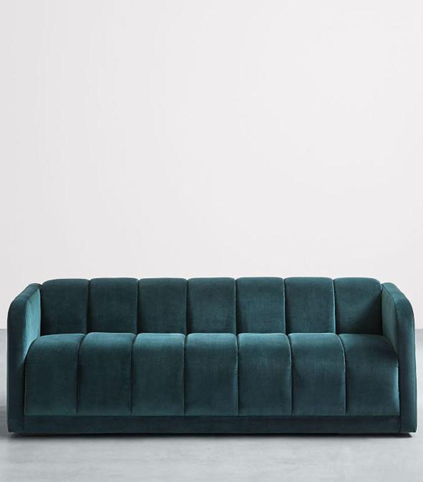 Not your grandma's rounded sofa, this bulky couch from West Elm feels unique and modern.