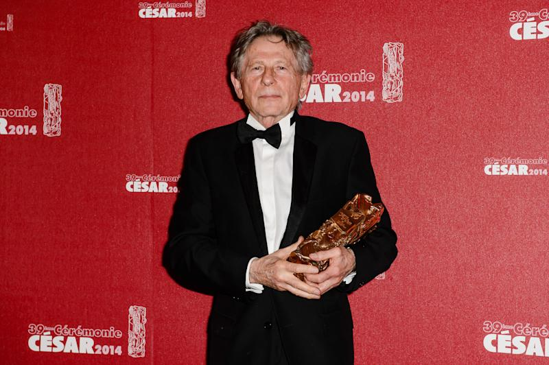 Director Roman Polanski, winner of the Best Director award, poses in the awards room during the 39th Cesar Film Awards 2014 at Theatre du Chatelet, in Paris. (Photo by Stephane Cardinale/Corbis via Getty Images)