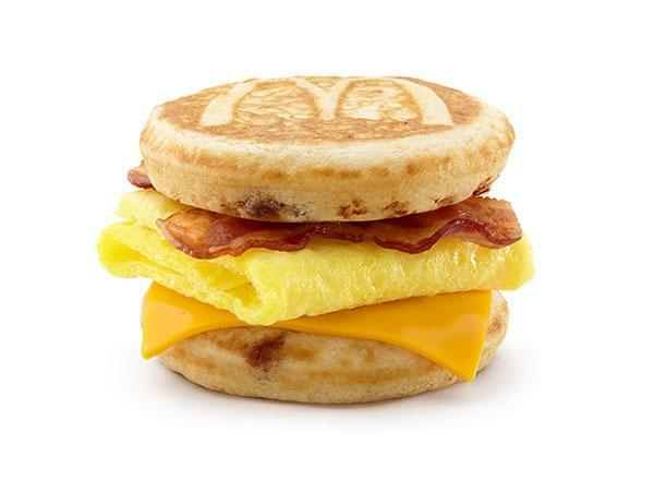 mcdonalds menu breakfast bacon egg cheese mcgriddles