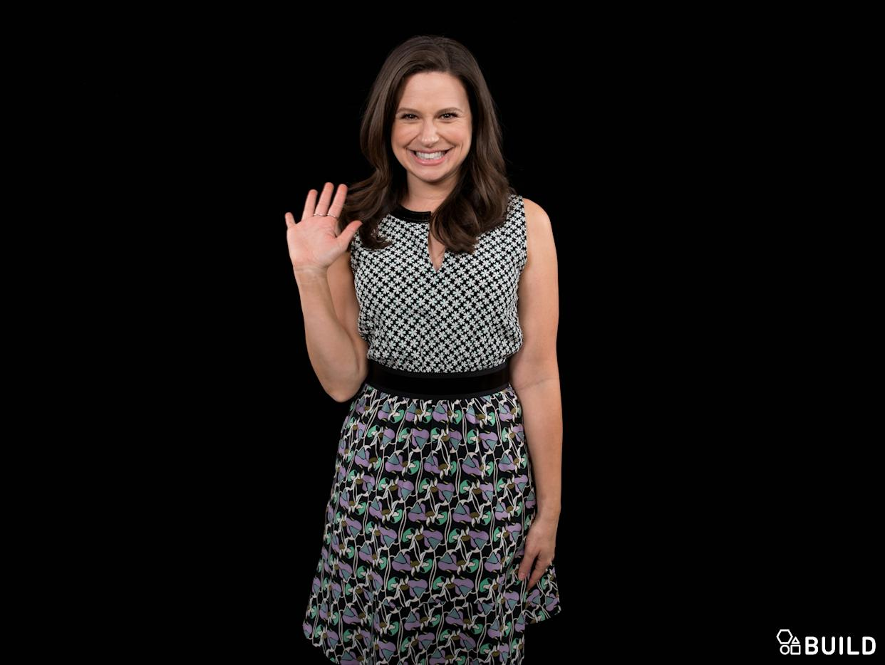 Katie Lowes visits AOL Hq for Build on February 10, 2016 in New York. Photos by Noam Galai