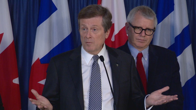 Mayor Tory vows Scarborough subway will be built, despite what David Miller says