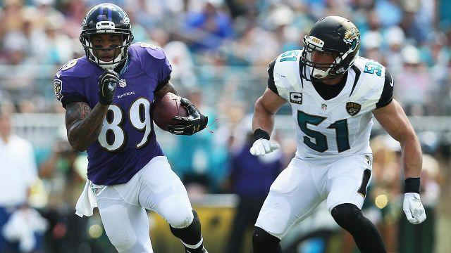 The Ravens take on the Jaguars on Sunday. Pic: Getty