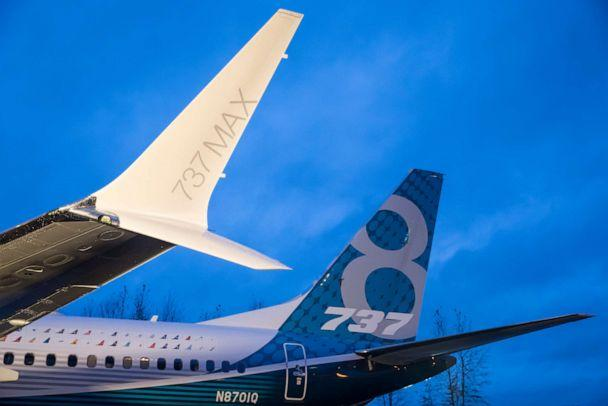 PHOTO: A winglet on the first Boeing 737 MAX airliner is pictured at the company's manufacturing plant, on December 8, 2015, in Renton, Washington. (Stephen Brashear/Getty Images)