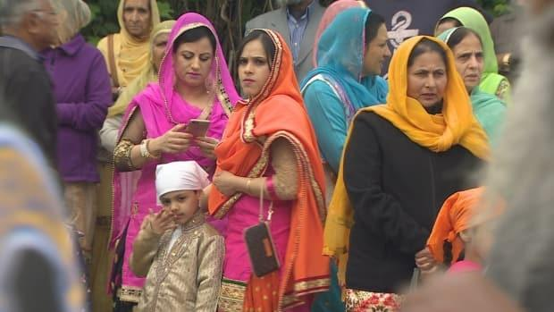 The Vaisakhi festivals in Vancouver and Surrey draw hundreds of thousands of people each year. (CBC - image credit)