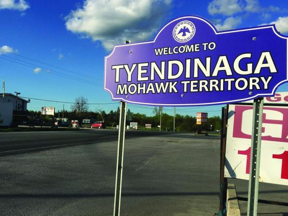 Canada's tiny Mohawk territory of Tyendinaga is benefitting hugely from the cannabis business (Brad Hunter/The Independent)