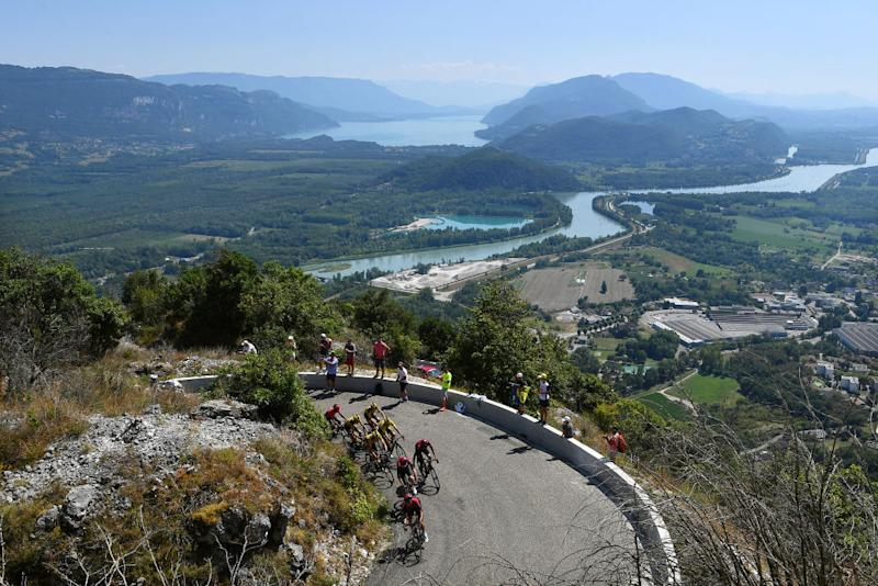 The climb took the riders up to 1500m