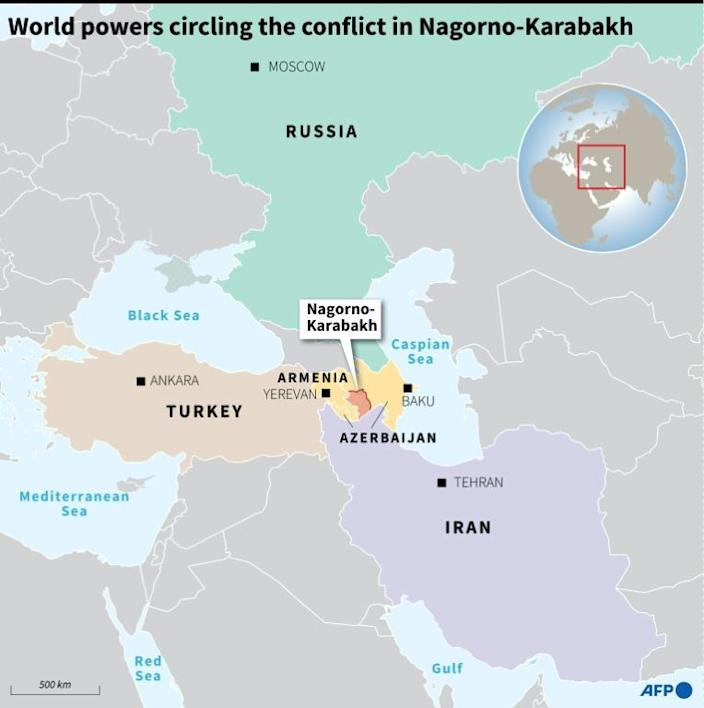 The fighting has threatened to draw in regional powers Turkey, which backs Azerbaijan, and Russia, which has a military alliance with Armenia