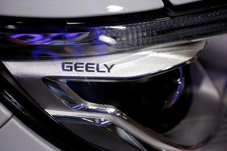FILE PHOTO: A sign is seen on a vehicle displayed at Geely Auto's booth during the Auto China 2016 auto show in Beijing, China, April 29, 2016.  REUTERS/Damir Sagolj/File Photo