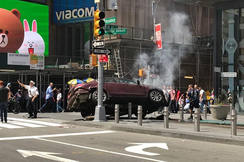 The car that hit pedestrians in Times Square, New York (Reuters)