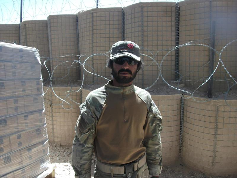 Mr Husseinkhel, who served on the front line for the British Army in Afghanistan between 2008 and 2012 as an interpreter between British and Afghan officers, was told last week that he was to be removed from the UK: William Locke