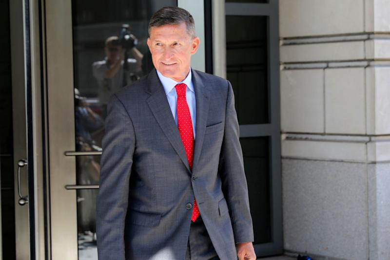 Michael Flynn departs the E. Barrett Prettyman United States Courthouse following a pre-sentencing hearing on July 10, 2018 in Washington, DC.