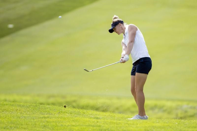 Olson leads by three after first round at windy women's British Open