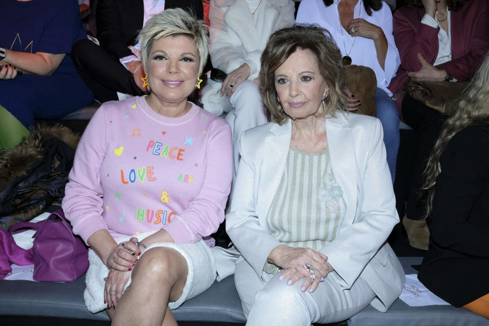 Maria Teresa Campos and Terelu Campos during in fashion show during Mercedes Benz Fashion Week Madrid Autumn/Winter 2020-21 on January 29, 2020 in Madrid, Spain  (Photo by Oscar Gonzalez/NurPhoto via Getty Images)