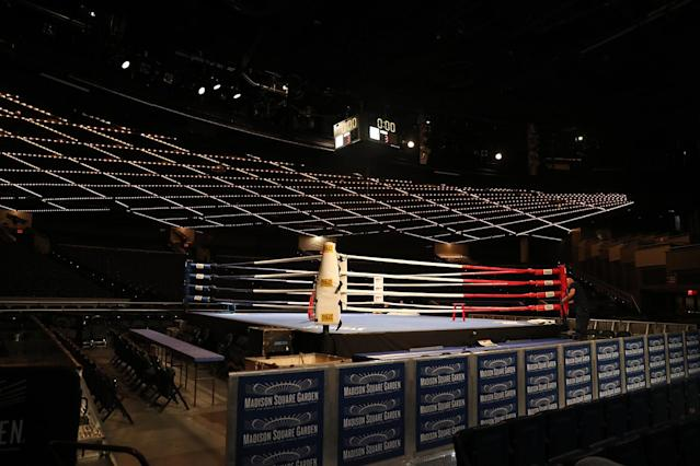 <p>The Theater at Madison Square Garden before the NYPD Boxing Championships on June 8, 2017. (Photo: Gordon Donovan/Yahoo News) </p>