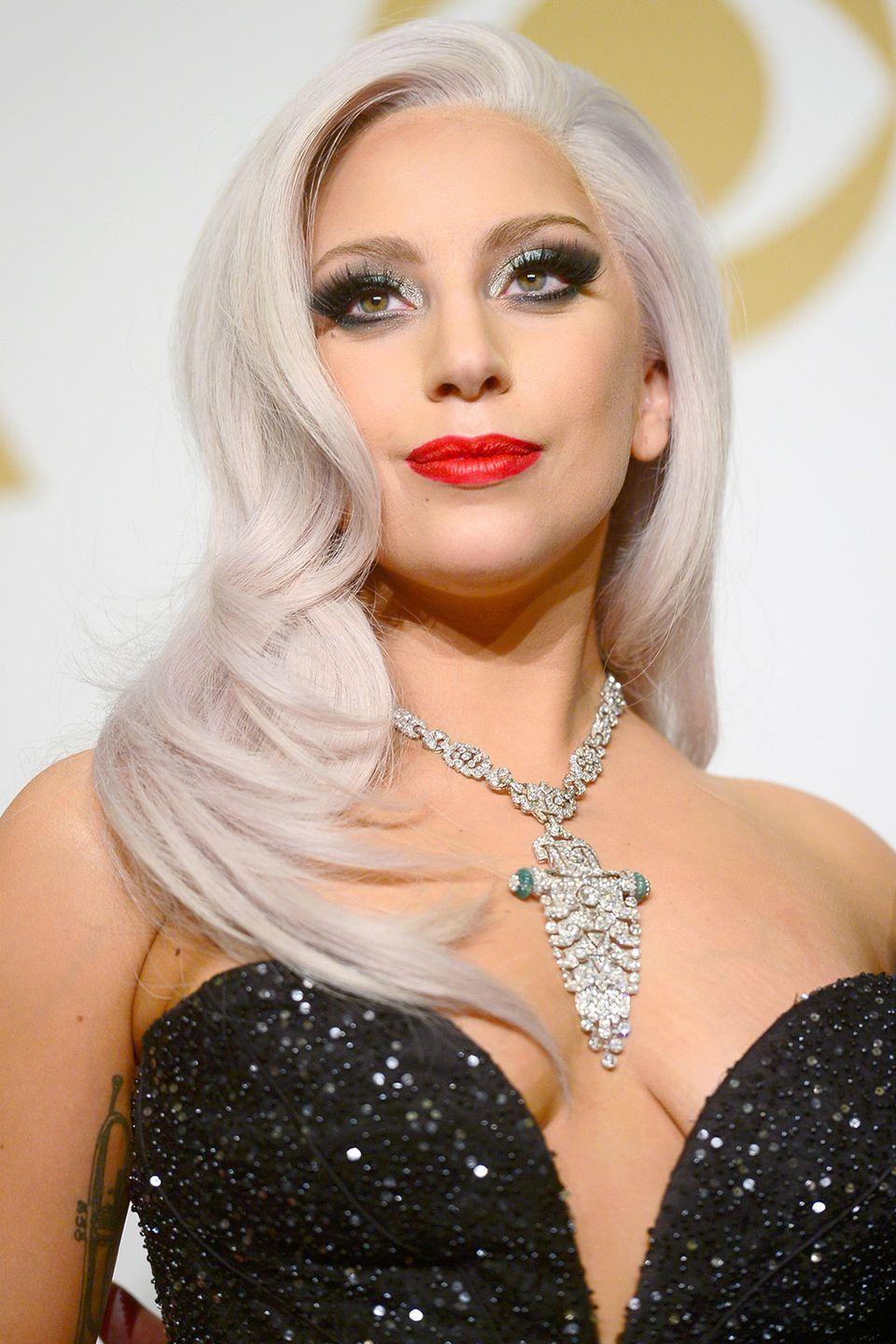 """<p><strong>Born</strong>: Stefani Joanne Angelina Germanotta</p><p>Before she became an international pop star, Germanotta adopted her now-famous stage name, <a href=""""https://www.thefreelibrary.com/THE+FEAR+FACTOR%3B+Lady+Gaga+used+tough+times+as+inspiration+for+her...-a0213005824"""" rel=""""nofollow noopener"""" target=""""_blank"""" data-ylk=""""slk:inspired by"""" class=""""link rapid-noclick-resp"""">inspired by</a> the 1984 Queen song """"Radio Ga Ga."""" Gaga <a href=""""https://twitter.com/ladygaga/status/940727983588773889"""" rel=""""nofollow noopener"""" target=""""_blank"""" data-ylk=""""slk:will also retain her stage name"""" class=""""link rapid-noclick-resp"""">will also retain her stage name</a> for all her acting projects. </p>"""