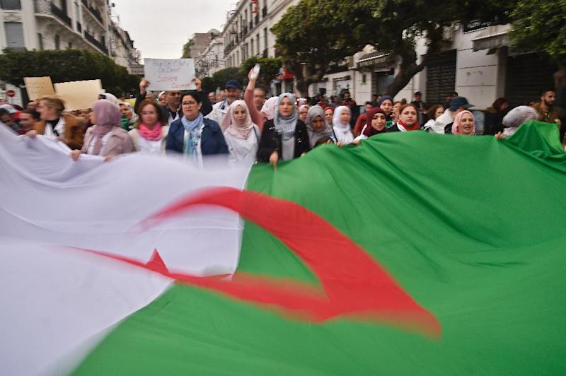Algerians have demonstrated in their tens of thousands against Bouteflika's bid for another term as president