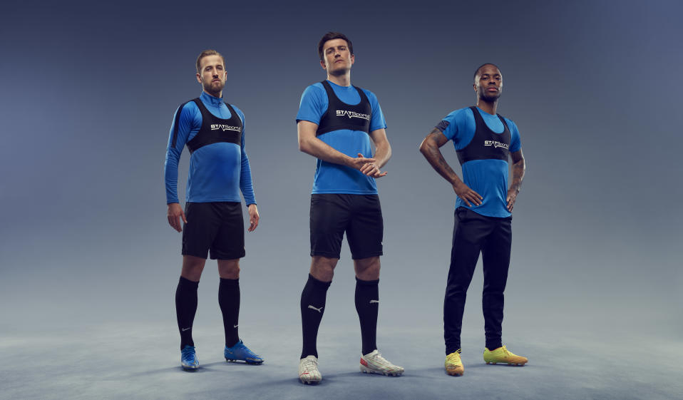 Harry Kane, Harry Maguire and Raheem Sterling are investors in STATSports (STATSports/handout)