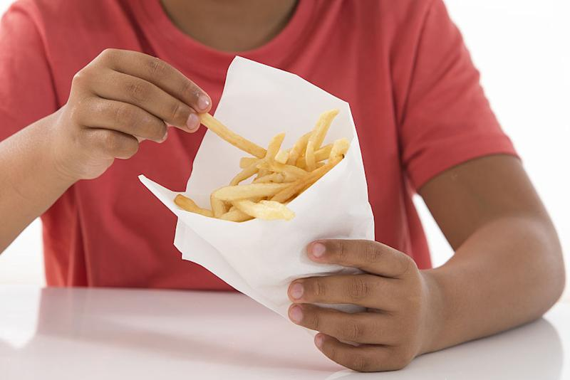 The boy has lived on a diet that includes lots of chips (File picture: Getty)
