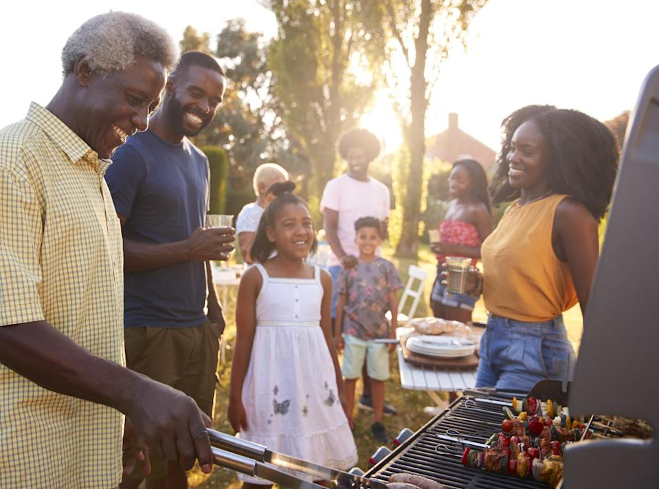 """<p>Every Juneteenth, Black families get together for huge cookouts. <a href=""""https://www.thedailymeal.com/cook/howard-conyers-black-barbecue-traditions?referrer=yahoo&category=beauty_food&include_utm=1&utm_medium=referral&utm_source=yahoo&utm_campaign=feed"""" rel=""""nofollow noopener"""" target=""""_blank"""" data-ylk=""""slk:Barbecuing is deep-rooted in American Black culture"""" class=""""link rapid-noclick-resp"""">Barbecuing is deep-rooted in American Black culture</a> because it brought together enslaved people during important communal affairs to bond and cook a whole pig in a pit. The pitmasters' techniques and secrets have been passed down from generation to generation and kept alive on holidays like Juneteenth.</p> <p>Meats like lamb and beef — which weren't easily accessible to enslaved people — are often brought to the feast along with chicken and pork. For a holiday that started in Texas, it's not surprising to see someone carving into some <a href=""""https://www.thedailymeal.com/best-recipes/smoked-texas-bbq-brisket-mccormick?referrer=yahoo&category=beauty_food&include_utm=1&utm_medium=referral&utm_source=yahoo&utm_campaign=feed"""" rel=""""nofollow noopener"""" target=""""_blank"""" data-ylk=""""slk:brisket"""" class=""""link rapid-noclick-resp"""">brisket</a> and other <a href=""""https://www.thedailymeal.com/eat/every-regional-barbecue-style-explained?referrer=yahoo&category=beauty_food&include_utm=1&utm_medium=referral&utm_source=yahoo&utm_campaign=feed"""" rel=""""nofollow noopener"""" target=""""_blank"""" data-ylk=""""slk:regional barbecue meat"""" class=""""link rapid-noclick-resp"""">regional barbecue meat</a>.</p> <p>Of course, you can't have a cookout without side dishes. Popular sides for Juneteenth include <a href=""""https://www.thedailymeal.com/recipes/collard-greens-bacon-recipe-0?referrer=yahoo&category=beauty_food&include_utm=1&utm_medium=referral&utm_source=yahoo&utm_campaign=feed"""" rel=""""nofollow noopener"""" target=""""_blank"""" data-ylk=""""slk:collard greens"""" class=""""link rapid-noclick-resp"""">collard greens</a>, <a href=""""https://w"""
