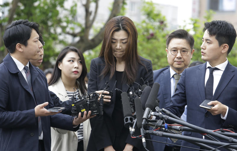 Korean Air chairman's daughter grilled by police