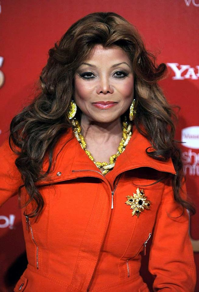 "Another fan of the hairdon't is La Toya Jackson, who loves her some cheap-looking locks. Frazer Harrison/<a href=""http://www.gettyimages.com/"" target=""new"">GettyImages.com</a> - November 18, 2009"