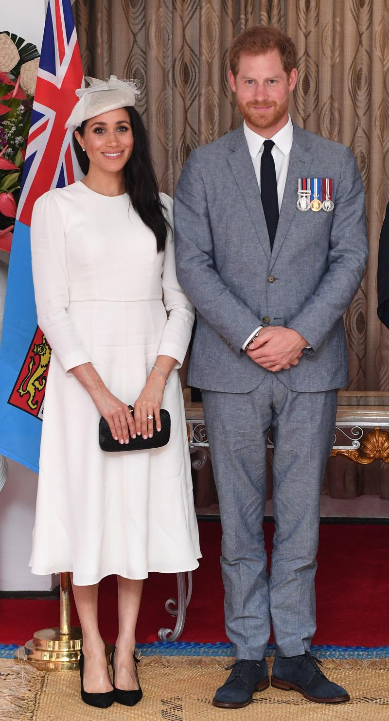 Prince Harry and Meghan Markle pose for a picture