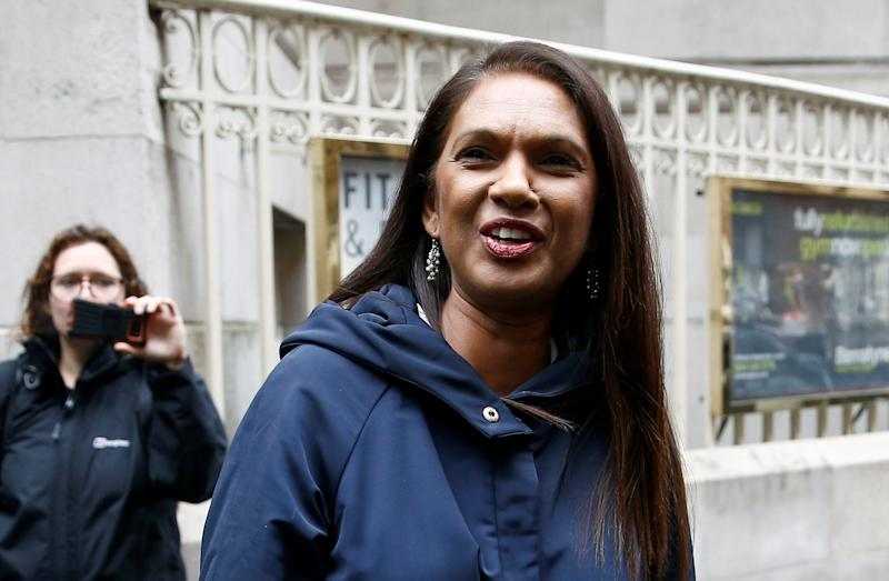 Campaigner Gina Miller is seen in Westminster, London, Britain September 25, 2019. REUTERS/Henry Nicholls