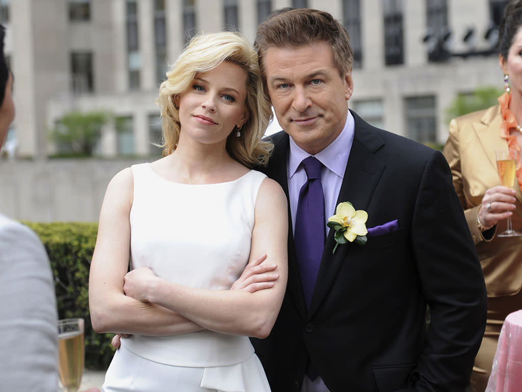 "30 ROCK -- ""What Will Happen to the Gang Next Year?"" Episode 622 -- Pictured: (l-r) Elizabeth Banks as Avery Jessup, Alex Baldwin as Jack Donaghy"