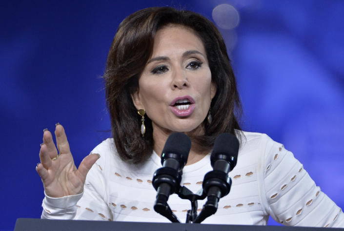 Judge Jeanine Pirro of FOX News Network makes remarks to the Conservative Political Action Conference (CPAC) at National Harbor, Maryland, February 23, 2017. Politicians, pundits, journalists and celebrities gather for the annual conservative event to hear speakers, network and plan agendas for the new President Trump administration.    / AFP / Mike Theiler        (Photo credit should read MIKE THEILER/AFP/Getty Images)