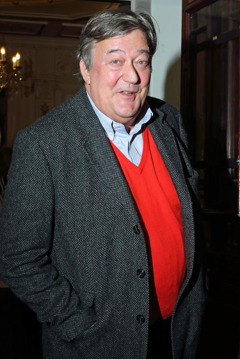 LONDON, UNITED KINGDOM - 2018/12/04: Stephen Fry at the True West Press Night at the Vaudeville Theatre. (Photo by Keith Mayhew/SOPA Images/LightRocket via Getty Images)