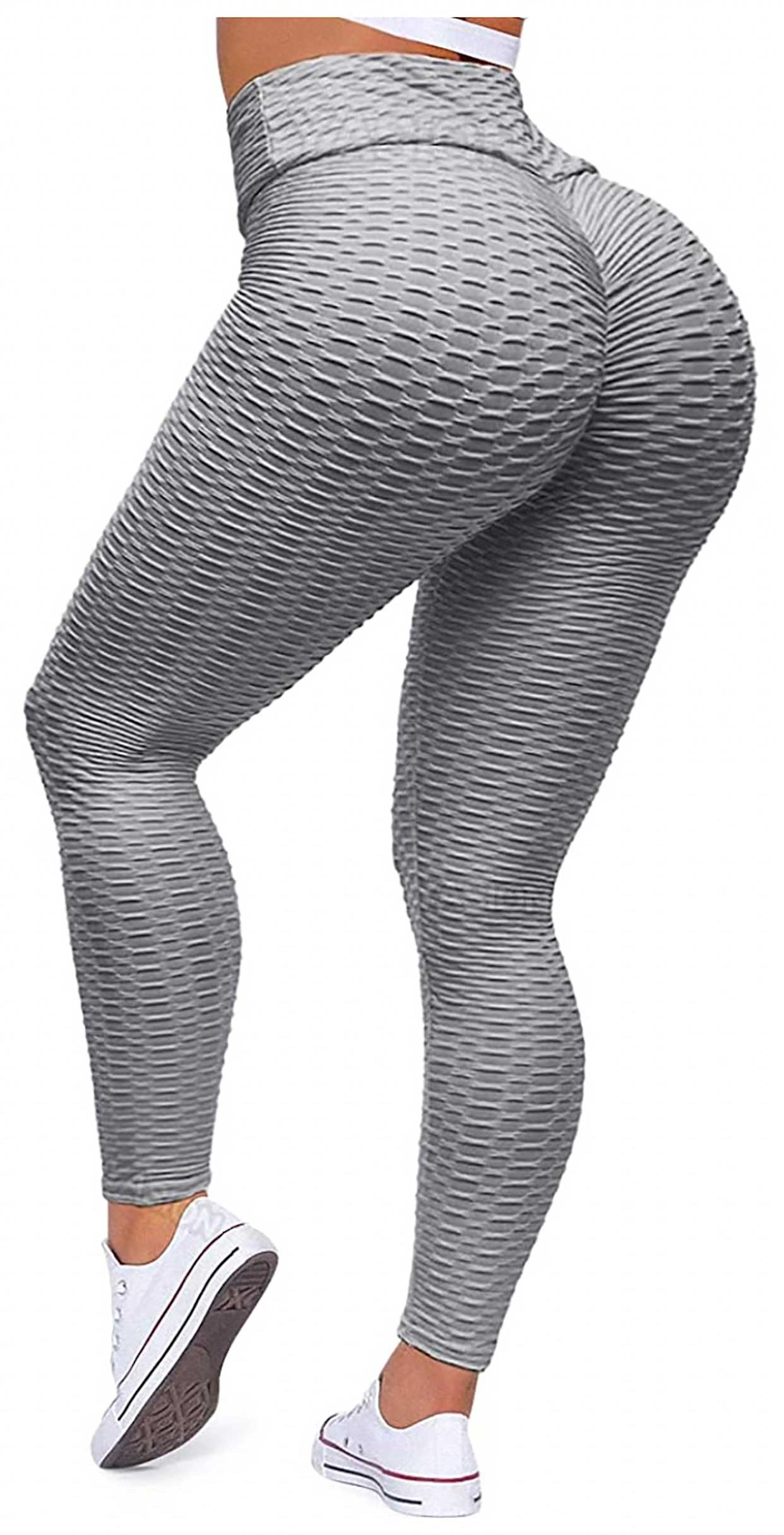 textured workout pants with butt lift enhanced functionality